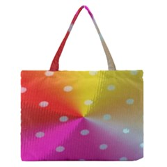 Polka Dots Pattern Colorful Colors Medium Zipper Tote Bag