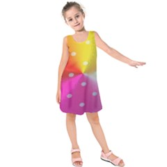 Polka Dots Pattern Colorful Colors Kids  Sleeveless Dress