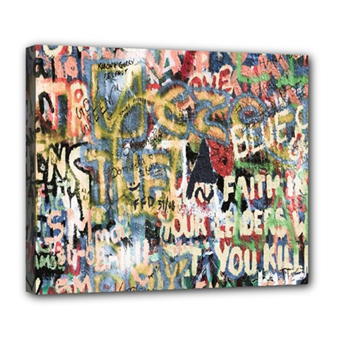 Graffiti Wall Pattern Background Deluxe Canvas 24  x 20