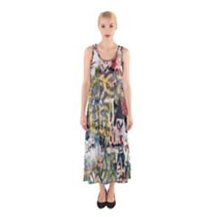 Graffiti Wall Pattern Background Sleeveless Maxi Dress