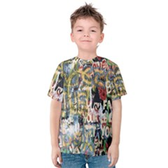 Graffiti Wall Pattern Background Kids  Cotton Tee