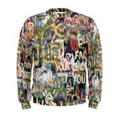 Graffiti Wall Pattern Background Men s Sweatshirt