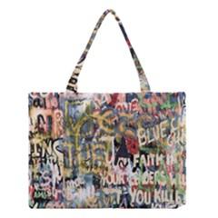 Graffiti Wall Pattern Background Medium Tote Bag