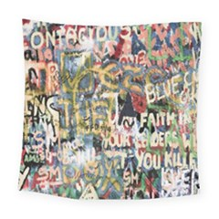 Graffiti Wall Pattern Background Square Tapestry (large)