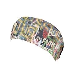 Graffiti Wall Pattern Background Yoga Headband