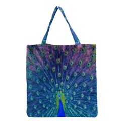 Amazing Peacock Grocery Tote Bag