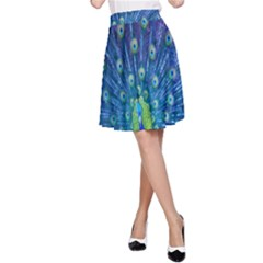 Amazing Peacock A-Line Skirt