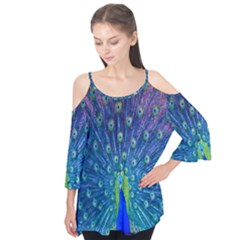 Amazing Peacock Flutter Tees