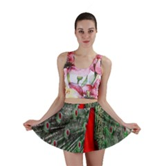 Red Peacock Mini Skirt