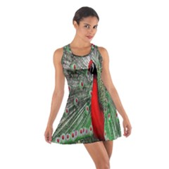 Red Peacock Cotton Racerback Dress