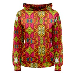 Abstract Background Design With Doodle Hearts Women s Pullover Hoodie