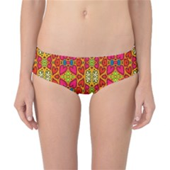 Abstract Background Design With Doodle Hearts Classic Bikini Bottoms