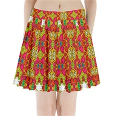Abstract Background Design With Doodle Hearts Pleated Mini Skirt