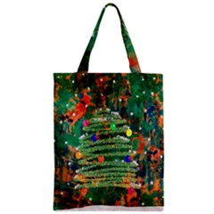 Watercolour Christmas Tree Painting Classic Tote Bag