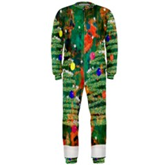 Watercolour Christmas Tree Painting Onepiece Jumpsuit (men)