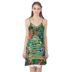 Watercolour Christmas Tree Painting Camis Nightgown