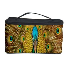 Peacock Bird Feathers Cosmetic Storage Case