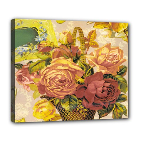 Victorian Background Deluxe Canvas 24  x 20