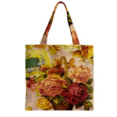Victorian Background Zipper Grocery Tote Bag