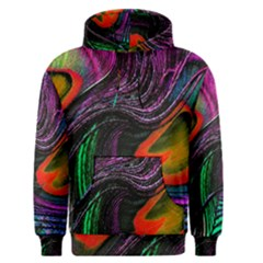 Peacock Feather Rainbow Men s Pullover Hoodie