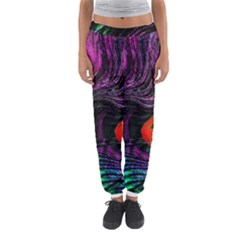 Peacock Feather Rainbow Women s Jogger Sweatpants