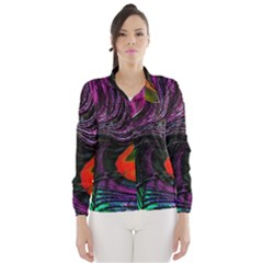 Peacock Feather Rainbow Wind Breaker (women)
