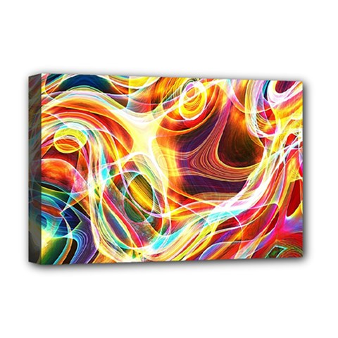 Colourful Abstract Background Design Deluxe Canvas 18  x 12