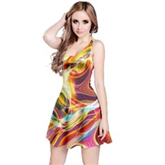 Colourful Abstract Background Design Reversible Sleeveless Dress