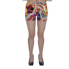 Colourful Abstract Background Design Skinny Shorts