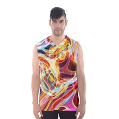 Colourful Abstract Background Design Men s Basketball Tank Top