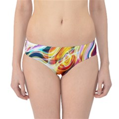 Colourful Abstract Background Design Hipster Bikini Bottoms