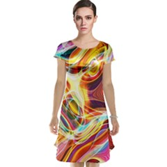 Colourful Abstract Background Design Cap Sleeve Nightdress