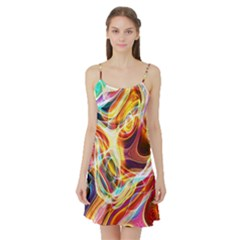 Colourful Abstract Background Design Satin Night Slip