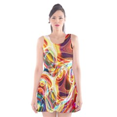 Colourful Abstract Background Design Scoop Neck Skater Dress