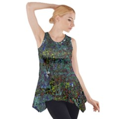 Stone Paints Texture Pattern Side Drop Tank Tunic
