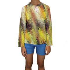 Multi Colored Seamless Abstract Background Kids  Long Sleeve Swimwear