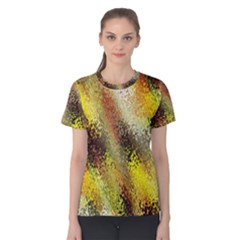 Multi Colored Seamless Abstract Background Women s Cotton Tee