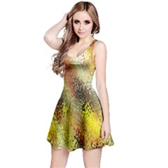 Multi Colored Seamless Abstract Background Reversible Sleeveless Dress