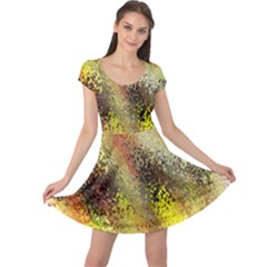 Multi Colored Seamless Abstract Background Cap Sleeve Dresses
