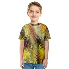 Multi Colored Seamless Abstract Background Kids  Sport Mesh Tee