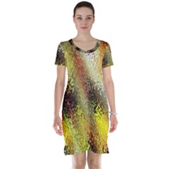 Multi Colored Seamless Abstract Background Short Sleeve Nightdress