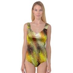 Multi Colored Seamless Abstract Background Princess Tank Leotard