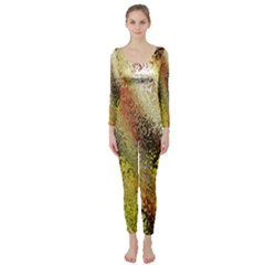 Multi Colored Seamless Abstract Background Long Sleeve Catsuit