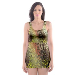 Multi Colored Seamless Abstract Background Skater Dress Swimsuit