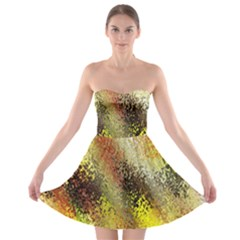 Multi Colored Seamless Abstract Background Strapless Bra Top Dress