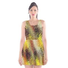 Multi Colored Seamless Abstract Background Scoop Neck Skater Dress