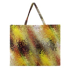 Multi Colored Seamless Abstract Background Zipper Large Tote Bag