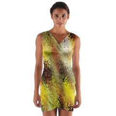 Multi Colored Seamless Abstract Background Wrap Front Bodycon Dress