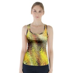 Multi Colored Seamless Abstract Background Racer Back Sports Top