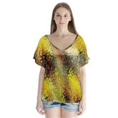 Multi Colored Seamless Abstract Background Flutter Sleeve Top